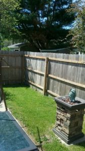 Wooden fence before