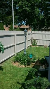 Wooden fence after